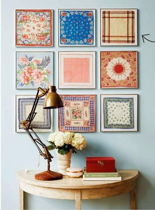 Puedes crear cuadros con trapitos para darle un toque cálido a tu hogar.