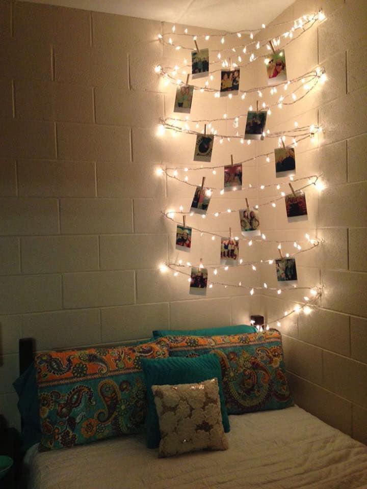 Guirnaldas de luces para decorar tu habitación o salón.