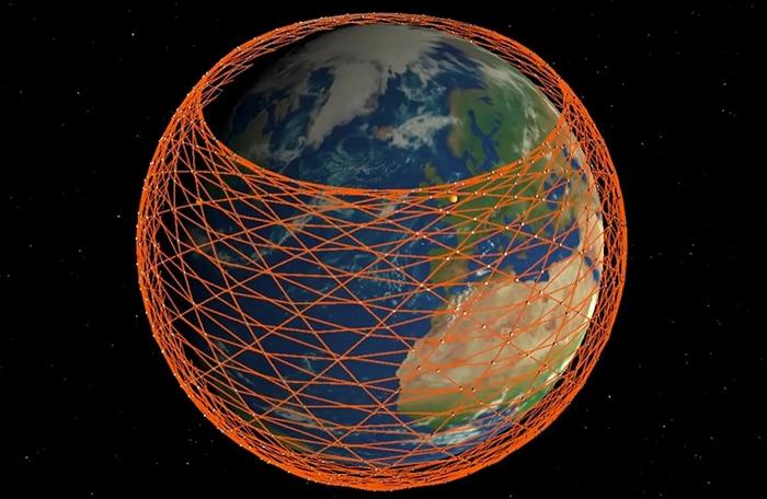 Maya de satélites para llevar internet a todo el planeta.