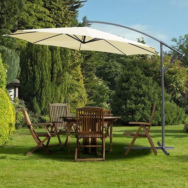 sombrilla de terraza y jardín de exterior