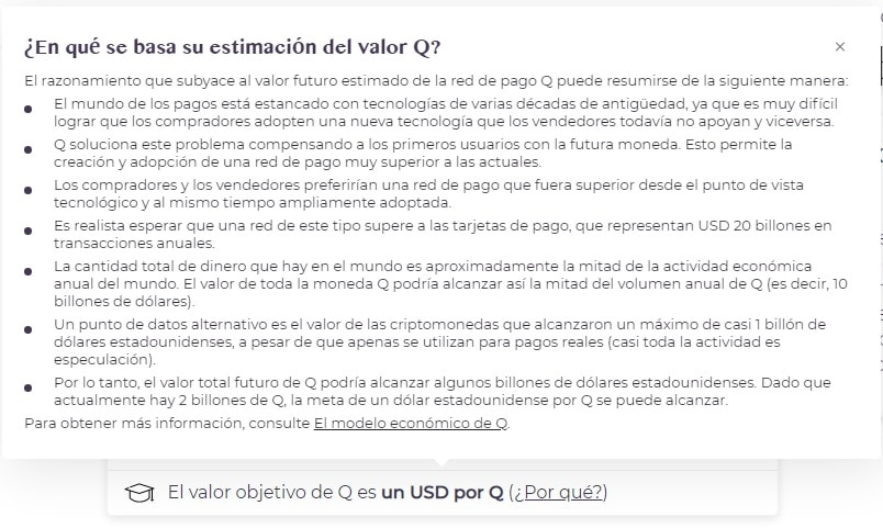 estimación del valor initiativeQ